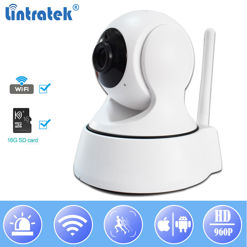 WiFi Mini IP Camera HD 960P Wi-fi Surveillance Wireless Camera ip 16G TF Card Security Home Indoor Baby Monitor IP Cam LINTRATEK kaweida 16g tf