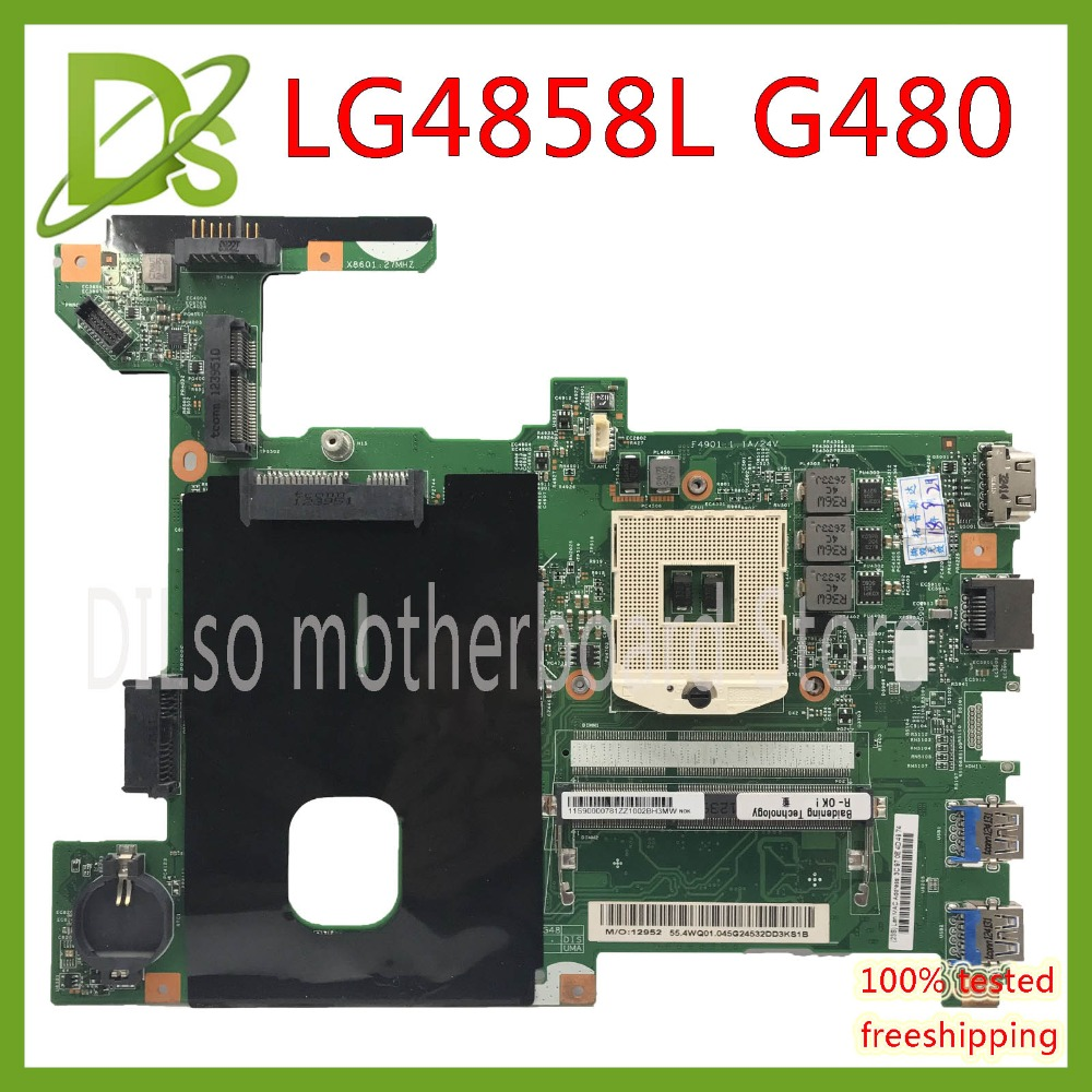 KEFU LG4858L For Lenovo G480 LG4858L Laptop Motherboard LG4858L UMA MB 12206-1 Mainboard Test GM Original Motherboard