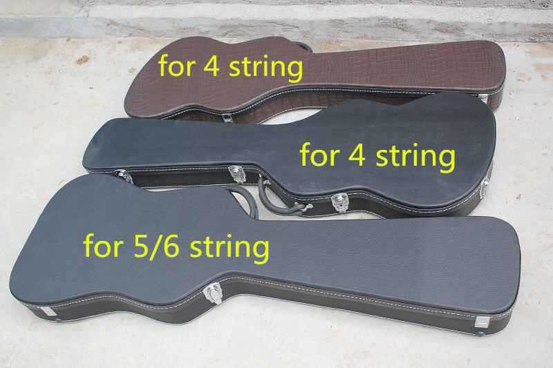 Not Sold Separately ***New High Quality Black & Brown Bass Guitar Hard Case for 4 / 5 / 6 Strings Bass Electric Guiatr