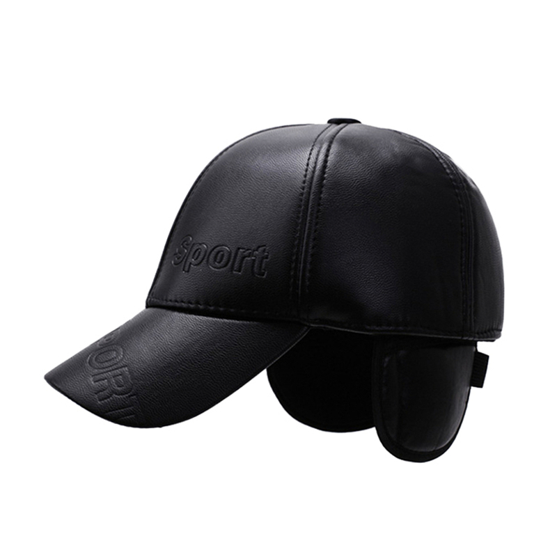 29567228746 NORTHWOOD  Sport Mens Baseball Cap With Earflap Winter Pu Leather ...