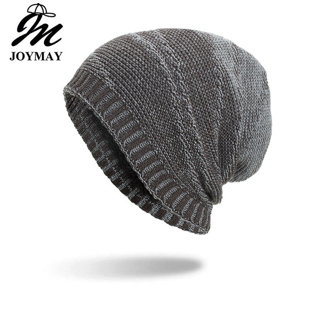 019791cc4c906 Joymay 2018 New Winter Beanies Hat Unisex Plain Warm Soft Skull Knitting Cap  Hats Gorro Caps For Men Women Dropshipping WM097