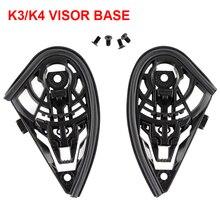 K3 K4 Helmet Visor Base Full Face Parts Bases With M4 Screws Casco Lens Pedestal Motorcycle Accessories