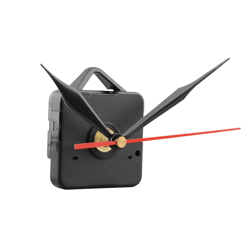 Silent Wall Clock Quartz Needle Movement Black And Red Hands DIY Replacement Part Repair Kit Tool Set Clock Mechanism