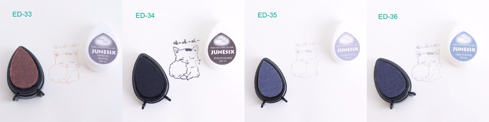 (10 pcs/lot) Fast drying pigment ink pad drop shape for decorating / stamping / scrapbooking