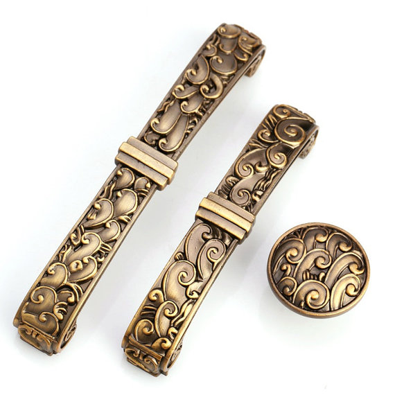 3.75 5 Antique Brass Dresser Drawer Pulls Handles Knobs Cabinet Pulls Knob Retro Kitchen Furniture Hardware Handles 96 128 MM chic sunflower pewter kitchen cabinet knobs drawer dresser pulls handles cupboard closet door knob modern furniture hardware