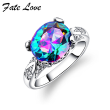 Здесь можно купить   Fate love European and American fashion artificial crystal stone ring female the wedding gift free shipping Fashion Jewelry