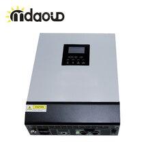 Hors réseau hybride solaire onduleur 3kva 2400 w DC 24 V à 220 V avec contrôleur de charge solaire