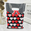 Black Red Heart Bow