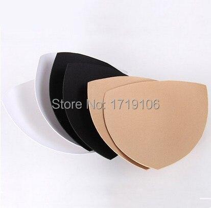 Triangle Bra Cups Foam Pads For Swimwear/bikini/genie bra Breast Lifter Push Up Black Beige White Pads Accessories