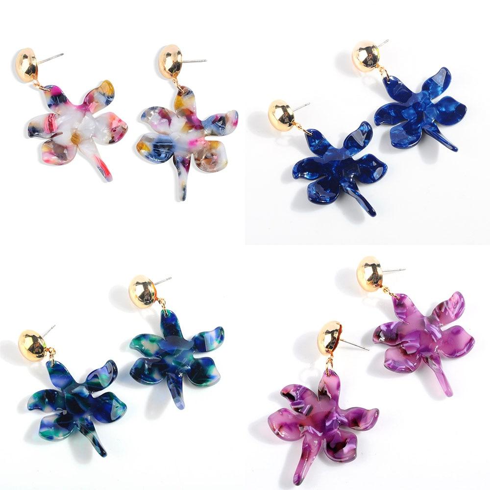 Acrylic Drop Dangle Bohemian Earrings 19 Big Statement Earrings for Women Resin Oval Square Geometric Boho Earrings Jewelry 5