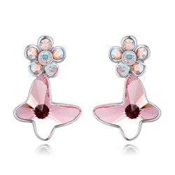 Baffin Original Crystals From Swarovski Bowknot Piercing Earrings 2016 Fashion Stud Earrings Party Jewelry Women Gift