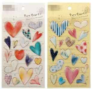 1sheet/lot Cute Lovely heart 3D PVC stationery sticker For Diary DIY Cartoon children Stickers  Play Toys