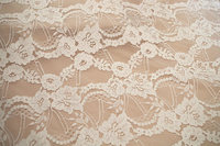 1 yard ivory lace fabric, delicate french lace fabric by the yard, bridal lace fabric, cord lace fabric for wedding dress