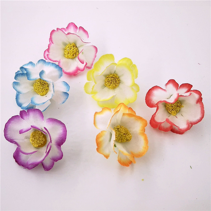 Whole 20 Colors For Choose 3 Satin Mesh Silk Flowers Headbands Without Hair