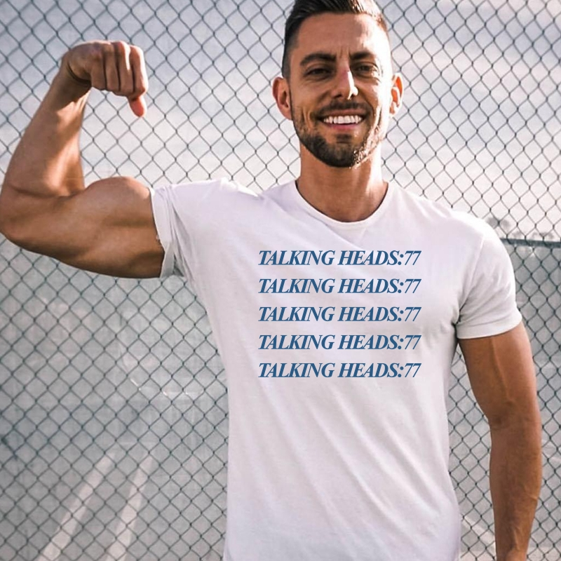 LUSLOS S 3XL Plus Talking Heads Men Tops Tees Short Casual O Neck T Shirt in T Shirts from Men 39 s Clothing