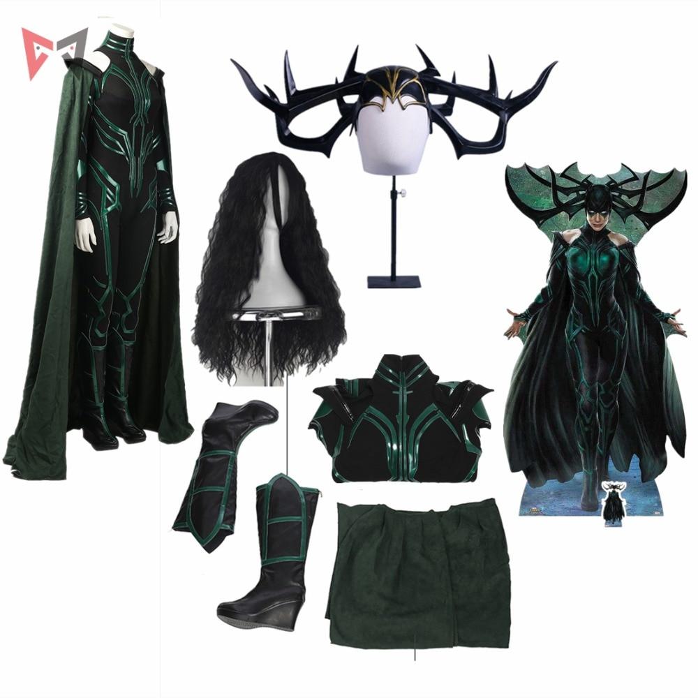 New Thor Ragnarok Cosplay  Hela Cosplay Costume Accessories Custom Made For Halloween Dress High Quality