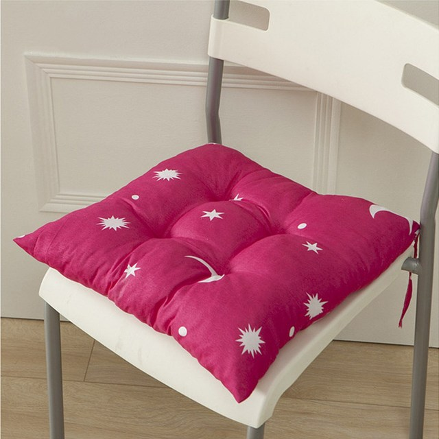 Chair Cushion Seat Pad Square Candy Color Star Moon Pattern Soft Dining  Filled Tie Decor 35