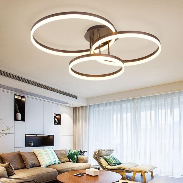 Moderne Kreative ringe moderne led deckenleuchten wohnzimmer bett  beleuchtung decke lampe lamparas de techo leuchte