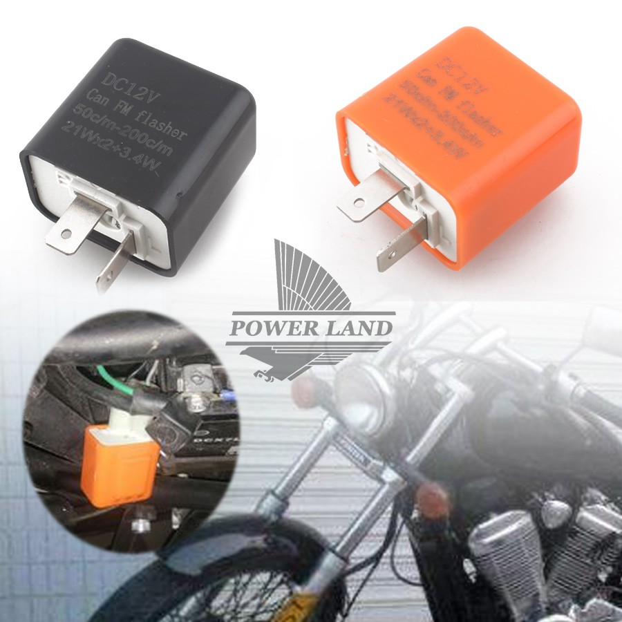 2 Pins 50c M 200c Motor Led Flasher Relay Fix 12v Flash Speed Circuit Adjustable Motorcycle Turn Light Signal Indicator Resistor In Decals Stickers From