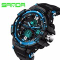 Sanda Brand Men Sports Watches 30m Waterproof Digital LED Military S Shock Watch Wristwatches Relogio Masculino Electronic 72 G