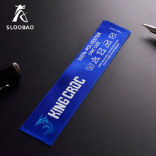 Free shipping custom printed satin labels/garment clothing tags/woven labels/silk ribbon tape 1000 pcs a lot