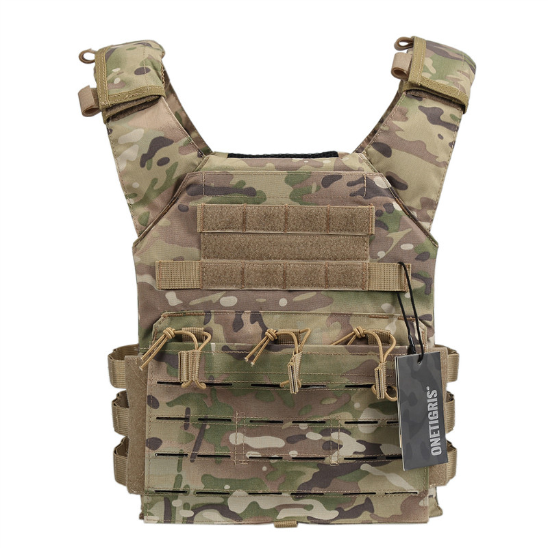 ФОТО OneTigris Tactical Laser-Cut JPC Vest Light-Weight MOLLE Lazer Special Plate Carrier Hunting Vest for Paintball Airsoft