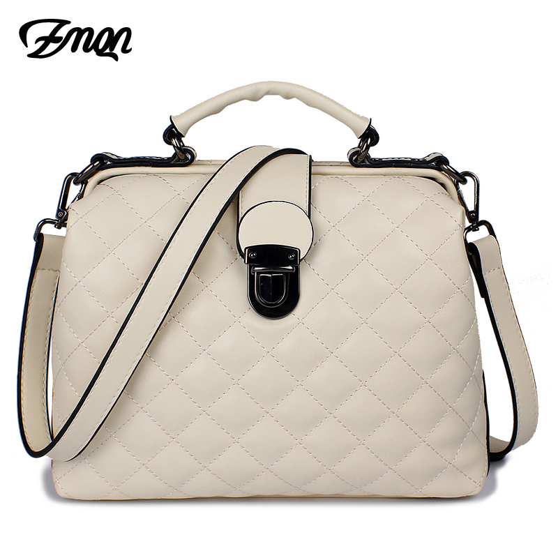 цена на ZMQN Women Bags Solid Women Crossbody Bag For Women Leather Handbags Famous Brand Fashion Hasp Shoulder Quilted Bucket Bags A510