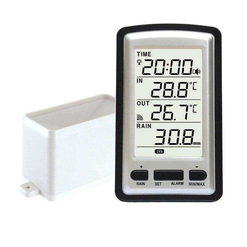 цена на Wireless Rain Meter Rain Gauge Thermometer Weather Station For Indoor Outdoor Temperature Recorder