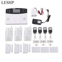 LESHP LCD Display Remote Control Wireless GSM Home Security Alarm System Detector Sensor Call 110dB Intelligent