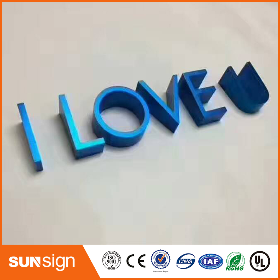 Fashion Decorated Letters Aluminum Channel Letters