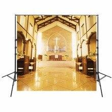 Hot Wedding Photography Backdrops Vinyl Backdrop For Photography Church Background For Photo Studio Indoor Foto Achtergrond
