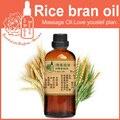 100% óleo de base vegetal puro óleos Essenciais óleo de Farelo de Arroz 100 ml Hidratante de cuidados Da Pele DIY handmade do sabão matérias-primas branqueamento
