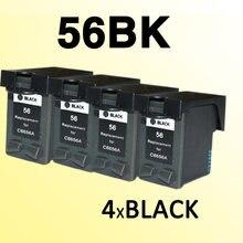 Чернильный картридж 4x для 56 C6656A 56xl, совместимый с принтером hp56 для фотостудии 7150/7155/7550/7660/7760/7960