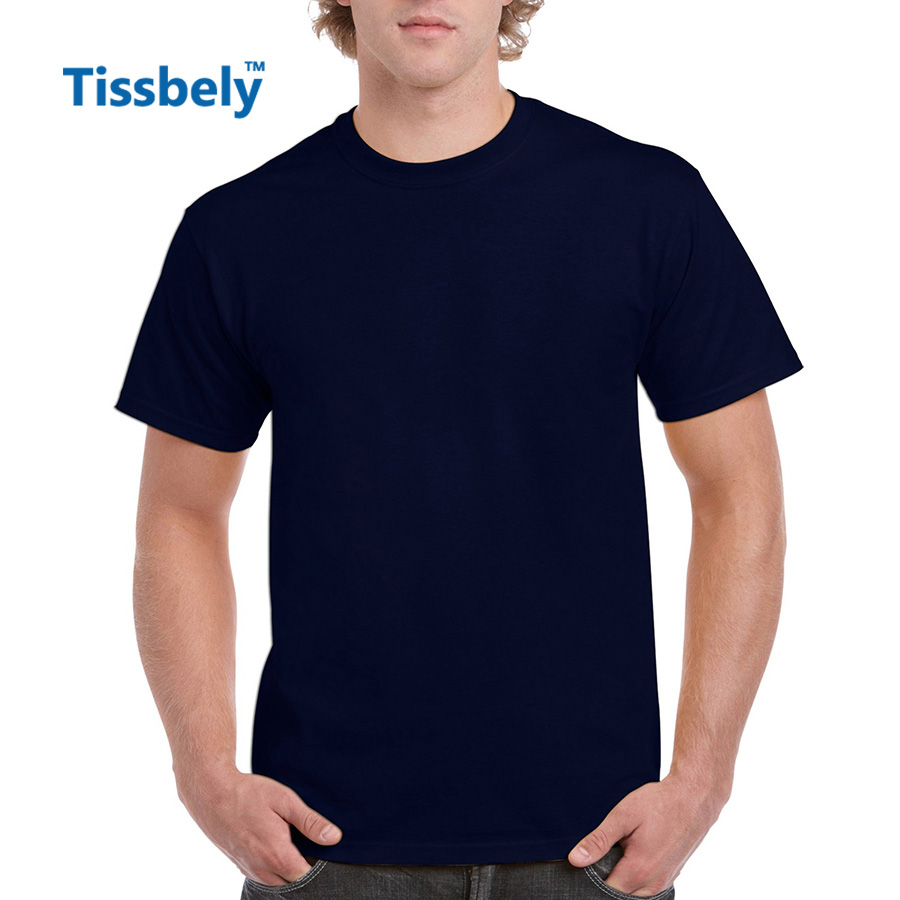 Plain black t shirt quality - Tissbely Plain Cotton T Shirt Men Solid Short Sleeve Colored Active Tops High Quality Combed Ring