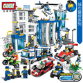 GUDI 9313~9320 City Police Series Building Blocks Car Helicopter Model Sets Figures Blocks Assembled Toys Cops Children DIY Toys