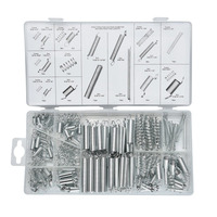 200pcs Set Sturdy Practical Metal Tension Compresion Springs Assortment In 20 Sizes For Bicycle Locks Automotive