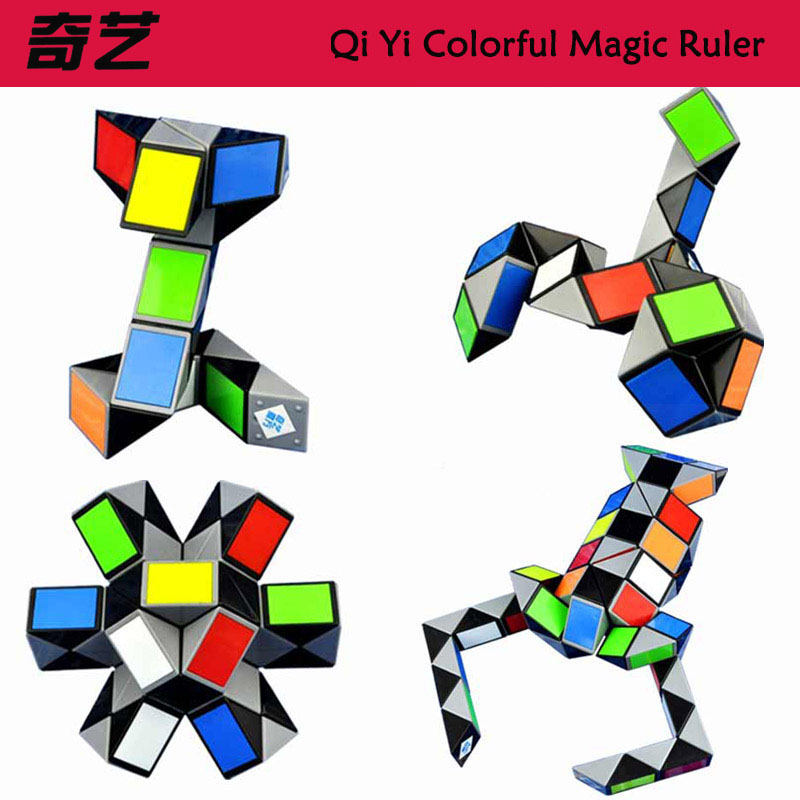 Qiyi 3D Bunte Magie Herrscher 24/36/48/72 Segmente Schlange Twist Cube Puzzle Kid Pädagogisches Spielzeug für Kinder (S8