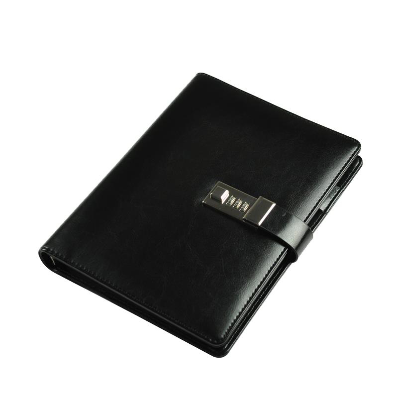 New Diary Notebook with Lock code Business Leather 80 sheets paper notepad note book Office school supplies Gift a5 fashion business notepad lock password leather notebook diary of charge to an account notebook