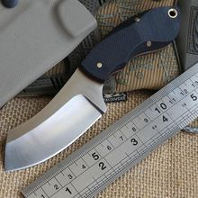 Dicoria Mini Chopper KYDEX Sheath Hunting skin Stainless Steel Fixed Blade Knife camping pocket knives EDC Kitchen survival tool