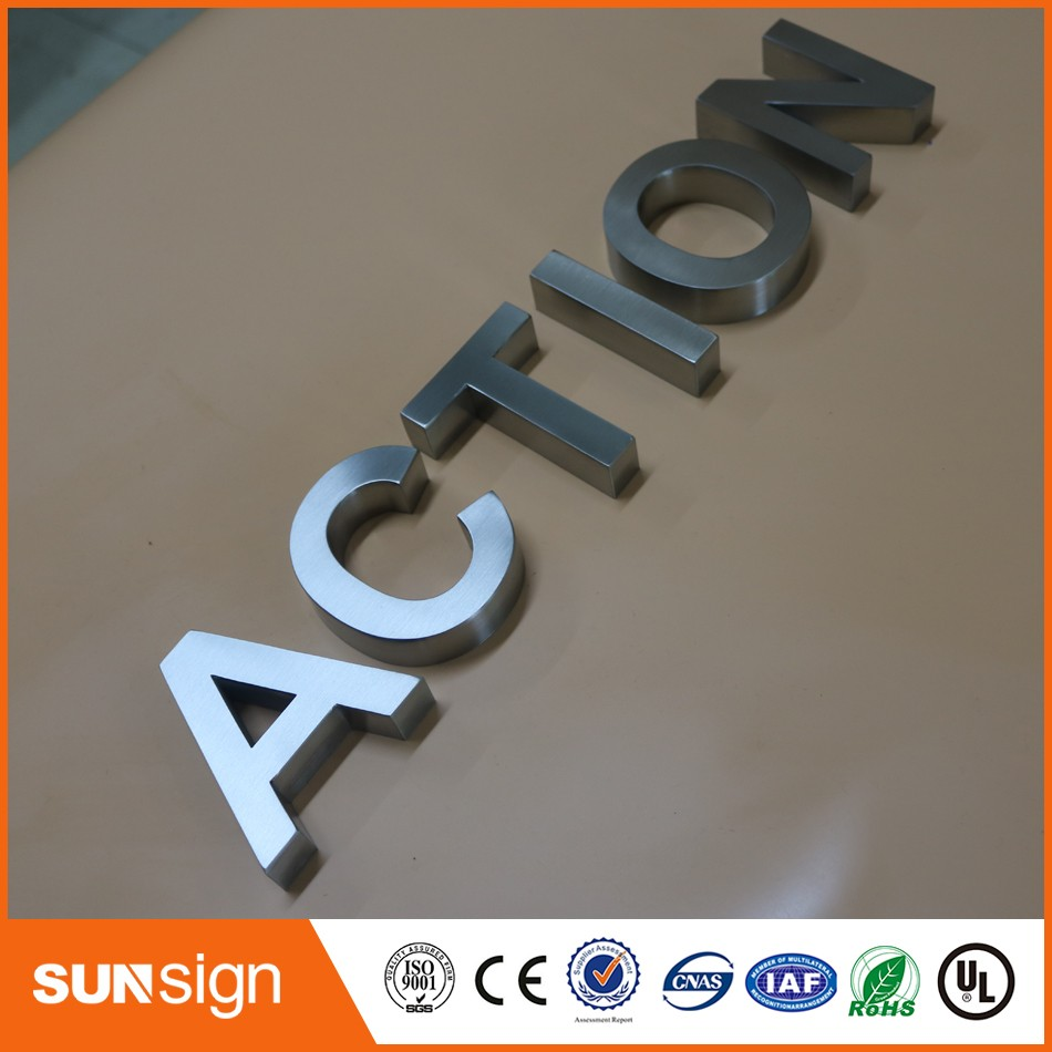Wall Decor Letters Brushed Surface 3d Stainless Steel Letters