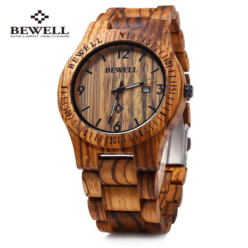 Prix pour Bewell zs-w086b de luxe marque bois montre hommes analogique quartz mouvement date étanche mâle montres relogio masculino 2017