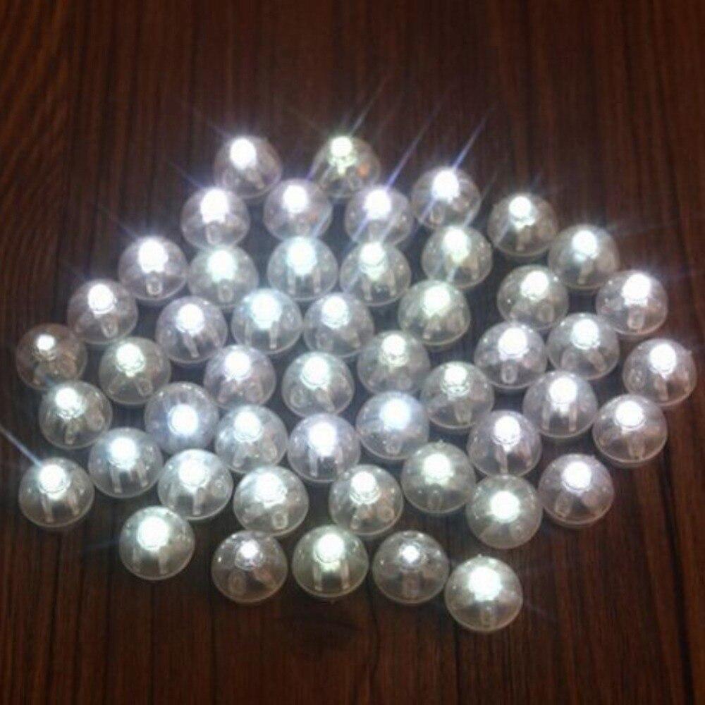 50pcs LED Mini Plastic Round Ball Light Party Wedding Birthday Festival Decor