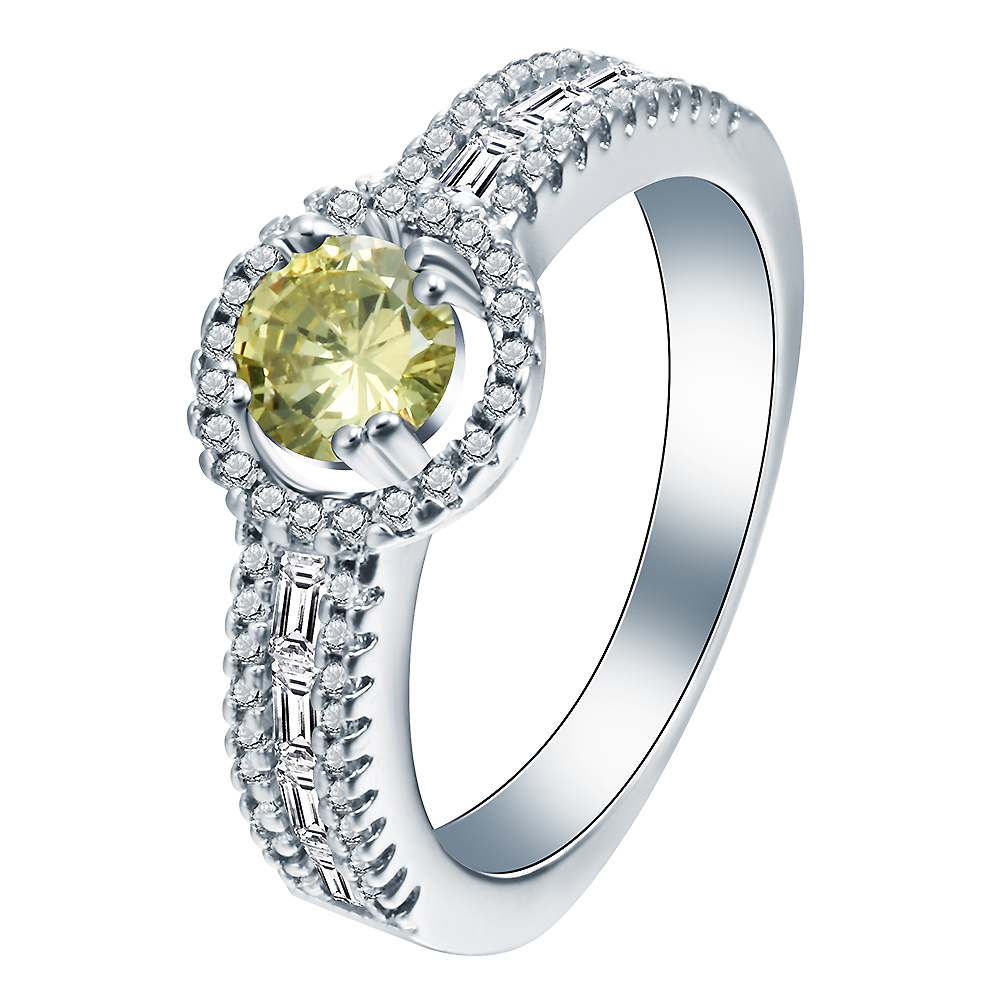 Imitation Cz Finger Engagement Ring Jewelry Cute Long