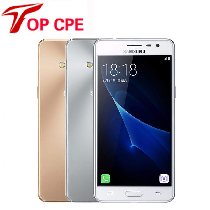 "Original Samsung Galaxy J3 Pro J3110 4G LTE Mobile phone Quad Core 1080P 16GB ROM Dual SIM 5.0"" 8.0MP NFC Refurbished Smartphone"
