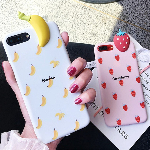 3D фрукты летний арбуз розовый клубника Мягкая силиконовая задняя чехол для iPhone х Чехлы для iPhone 6 6S 7 8 плюс крышка