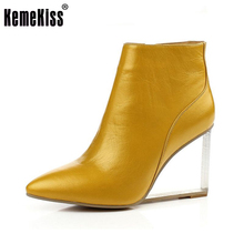 Frauen schuhe transparent keile high heels stiefeletten spitz high heels stiefel winter mode schwarze schuhe frau size33-41