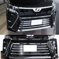 JY SUS304 Stainless Steel Front Bumper Grill Molding Garnish Trim Cover Car Accessories For Toyota Voxy