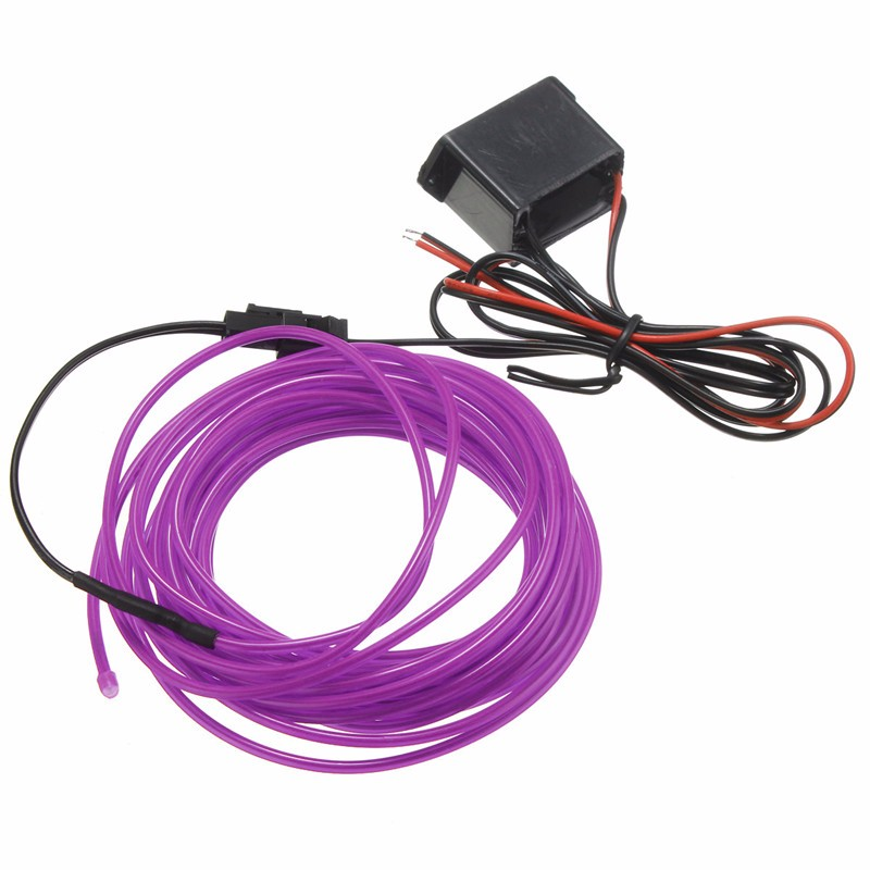 New Arrival LED Strip LED Flexible EL Wire Neon Glow Light 5M With ...