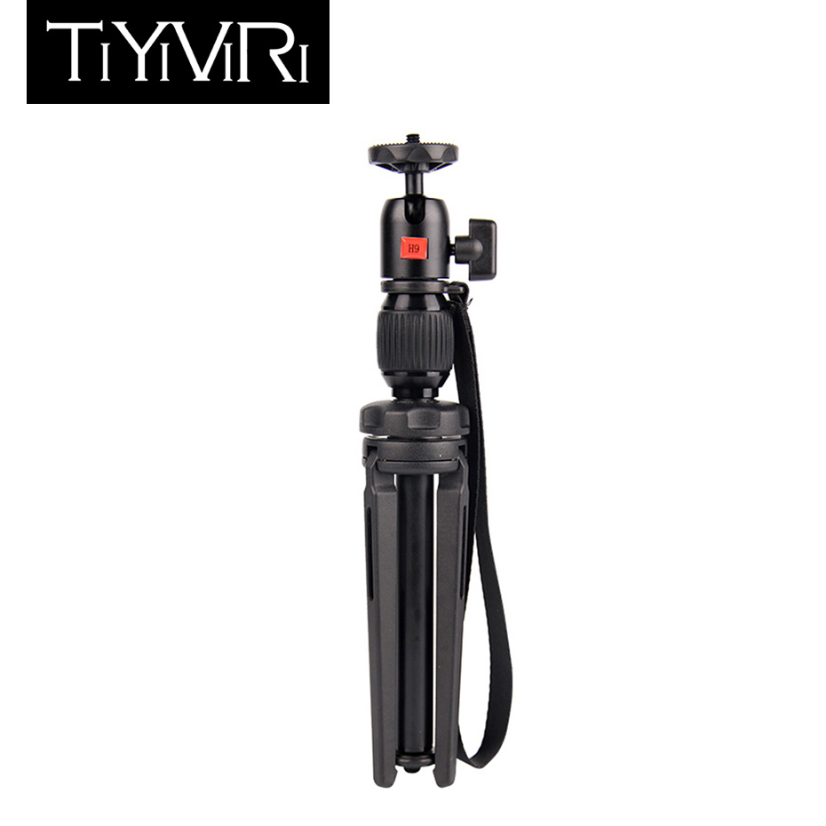 TiYiViRi mini Tripod for camera Aluminum alloy Professional Portable Travel for Canon Nikon Digital DSLR Camera Smart phone