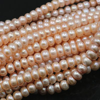 Orange 8 9mm Natural Freshwater Pearl Bead Loose Abacus Spacer Pearls Beads for Jewelry Making DIY Necklace Bracelet 14.5 A490